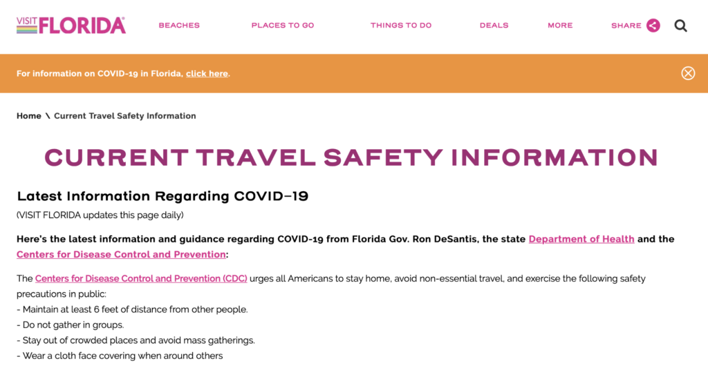 Reopening In Florida And How It Affects Your Vacation Destination Central Florida